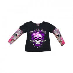 Koszulka TATTOO GIRLY SKULL T3